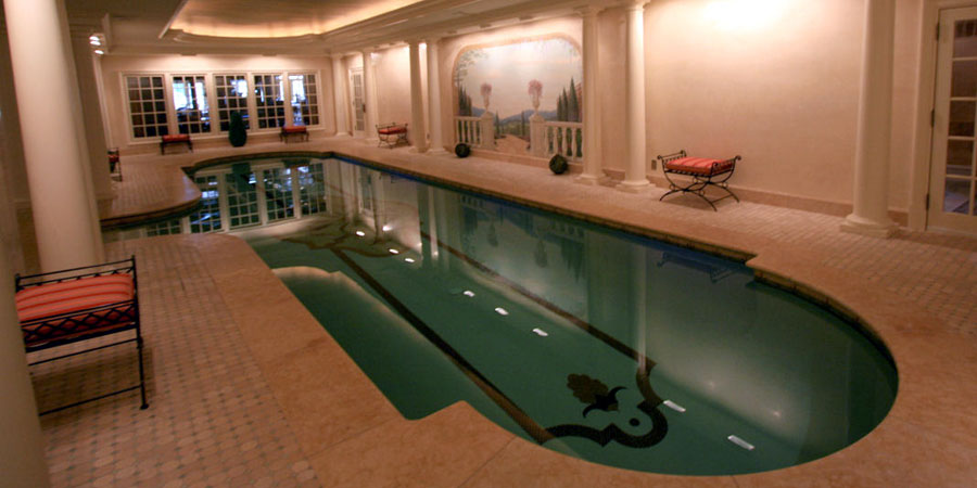 a George Neiderer Custom Indoor Pool